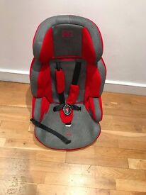 RED AND GREY CAR SEAT
