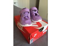Nike Kaishi lilac baby girls trainers size UK 2.5