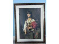 The Flower Girl painting