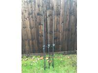3 rod set Nash rods