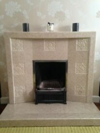 1950's tiled fireplace
