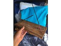 Handmade Wooden Incense holder 2 holds smoke sticks