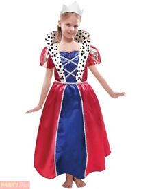 Girls fancy dress Queen outfit Age 5 worn only once