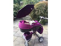 Stokke Xplory Pram/Carry Cot and Accessories - Purple
