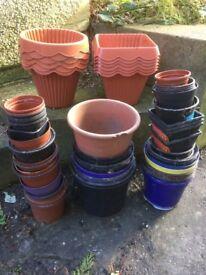 70 pcs huge PLANT POT bundle - assorted sizes