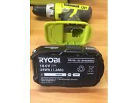 Ryobi hammer drill set