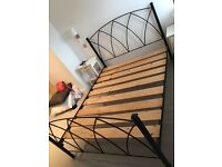 King size bed black cast iron