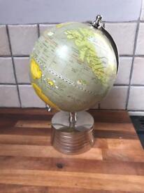 Lovely Ornate Globe On Chrome Stand