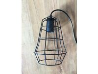 NEW Cool Minimalist Industrial Small Wire Skeleton Ceiling Lampshade Warehouse Mid Century Style