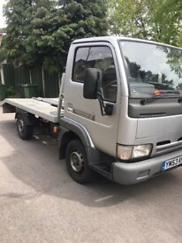 Nissan cabstar recovery truck 2003 reg moted genuine low mikes S/hist ideal motor bikes small cars