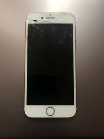 iPhone 7 Rose Gold 16GB Cracked screen