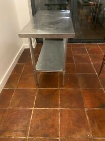 Stainless steel kitchen units x2