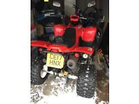 Road legal Quad bike 400cc, Taxed , still under manafactures warranty ,17 plate with extra security