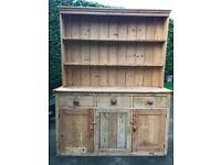 Old antique shaker style pine dresser