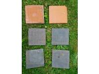 Quarry Tiles 6x6inch for refurb / reclaimation. 40 Blue / 20 Red