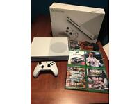 Boxed 1tb Xbox one s and 4 games