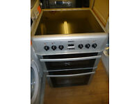 BEKO Silver Electric Cooker - Double Oven - 60 cm - Ceramic Top