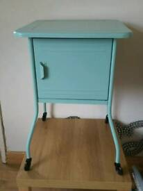 Green metal bedside table