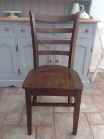 Solid wood dining / pub chair - 3 available