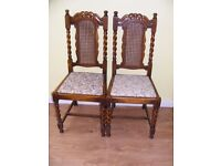 CAN DELIVER - PAIR OF ANTIQUE VICTORIAN CHAIRS - NEED RESTORATION