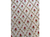 Curtain Fabric 100% cotton 7.1 m x 1.2 m wide repeat pattern 6 cms
