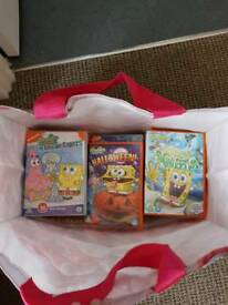 Selection of spongebob dvds
