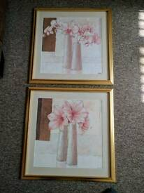 Various wall hanging pictures