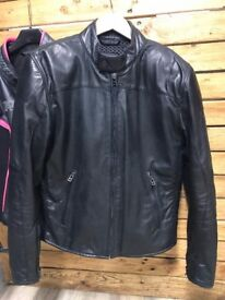 Dainese Mike Cafe Racer Vintage Motorbike Jacket-Black,Size 50 UK 40