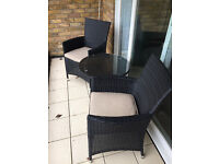 Patio furniture 2 chairs & table