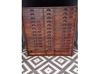 haberdashery drawers / apothecary cabinet