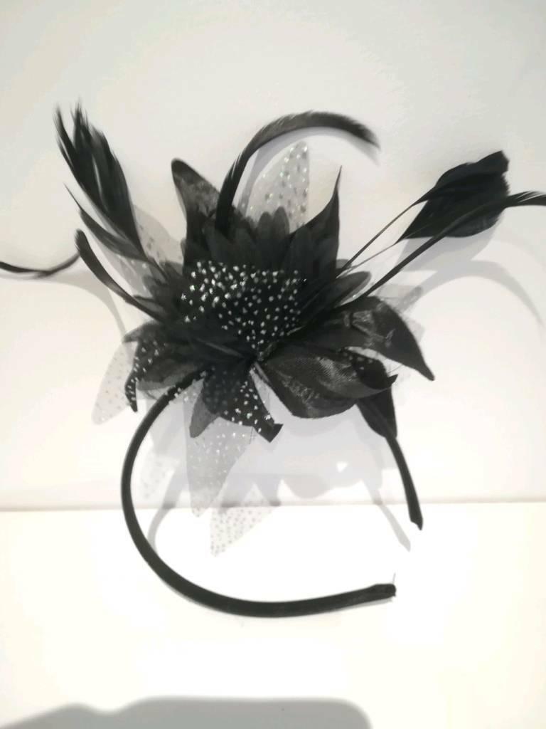 76f0d5ab Black fascinator | in Epsom, Surrey | Gumtree