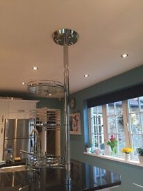 Kitchen pole with 3 display shelves
