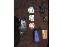 Sony psp with pro evo soccer game and spiderman movie and charger