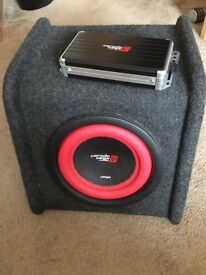 Cerwin Vega Subwoofer and AMP | Car Use | Great Sound Quality | Great Conditiona