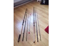 As New...Match Fishing Rods...13' Float & 12' Feeder + 3 Tips...