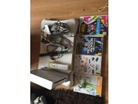 Wii machine with board and 4 games