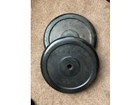 Domyos 20kg weight plates x2