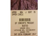 BUSTED TICKETS x2 (EDINBURGH 25.02.17)