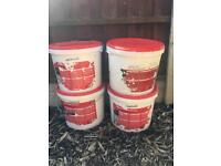 3 x tubs of silicone texture. Cream.