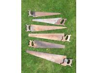 Selection of antique saws for sale