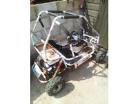 KIDS 2 SEATER PETROL BUGGY STARTS FIRST TIME RUNS GREAT