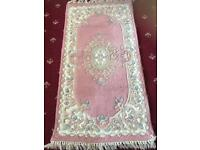 3 Pink woven rugs excellent quality