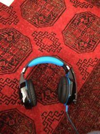 USB gaming headset light up