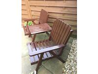 2 seater garden chair and table