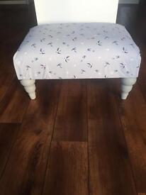Beautiful large door stool in Sophie Allport Swallow fabric