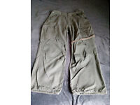 Vintage Fatigues Military Trousers Olive