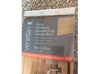 2 x hardwood Venetian blinds