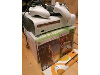 Xbox 360 + extra controller + 2 games + VGA cable to use with computer monitor