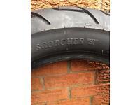 Harley Davidson Scorcher tyre low miles