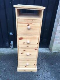 Tall chest of drawers Pine (delivery available)